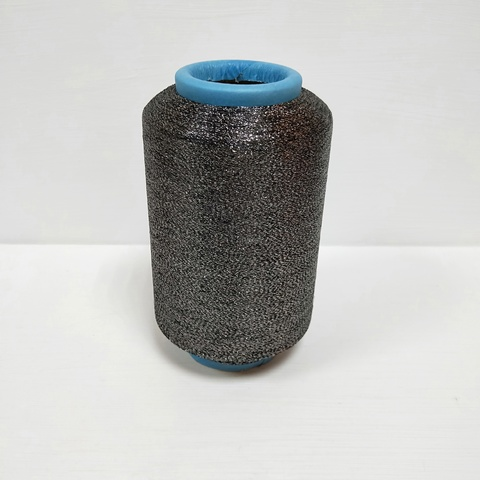 Пряжа Люрекс, Темно-серый металлик, 11000 м в 100 г