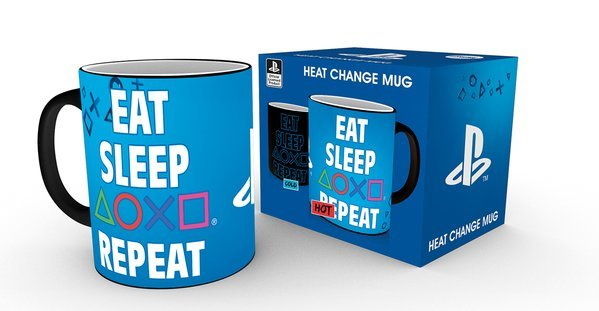 Кружка-хамелеон PlayStation (Eat Sleep Repeat)
