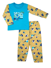 Пижама для мальчика Таро цвет: голубой с бежевым