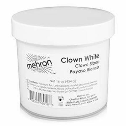 MEHRON Грим для клоуна экстра белый Clown White Extra Large, 454 г
