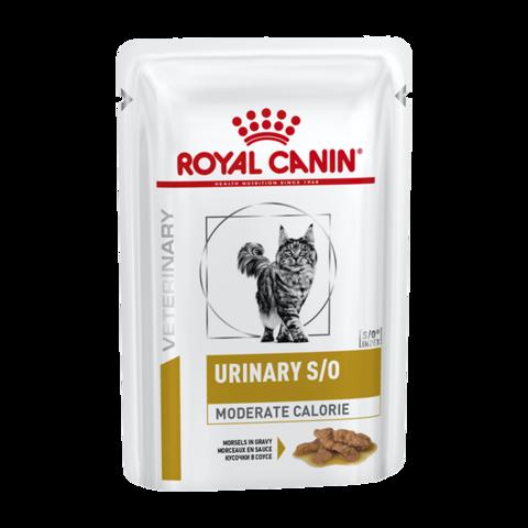 Royal Canin Urinary S/O Moderate Calorie Консервы для кошек с умеренным содержанием энергии для кошек при лечении мочекаменной болезни