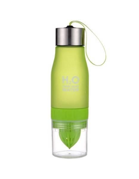 Бутылка с соковыжималкой H2O зеленая