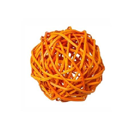 Плетеные шары из ротанга (набор:6 шт., d8см, цвет: оранжевый)
