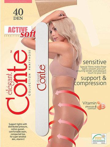 Колготки Active Soft 40 (с пилочкой для ногтей) Conte