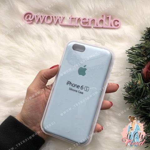 Чехол iPhone 6/6s Silicone Case /sky blue/ светло-голубой 1:1