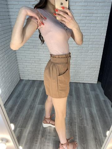 шорты с завышенной талией с ремнем интернет магазин