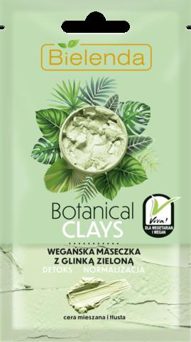 BOTANICAL CLAYS веганская маска с зелёной глиной, 8 г