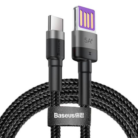 Кабель Baseus Cafule HW Quick Charging Data cable USB Double-sided Blind Interpolation For Type-C 40W 1m Gray black