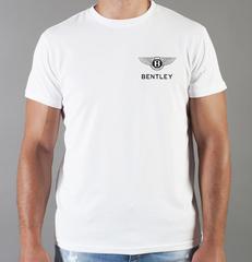 Футболка с принтом Бентли (Bentley) белая 001