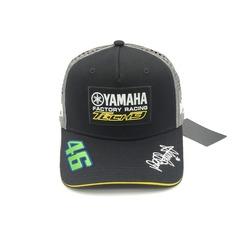 Кепка с вышитым логотипом Ямаха 46 tech 3 (Кепка Yamaha 46) черная