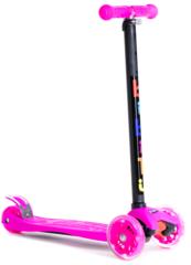 Трехколесный самокат для детей и подростков, материал - металл/пластик BIBITU CAVY SKL-07, розовый