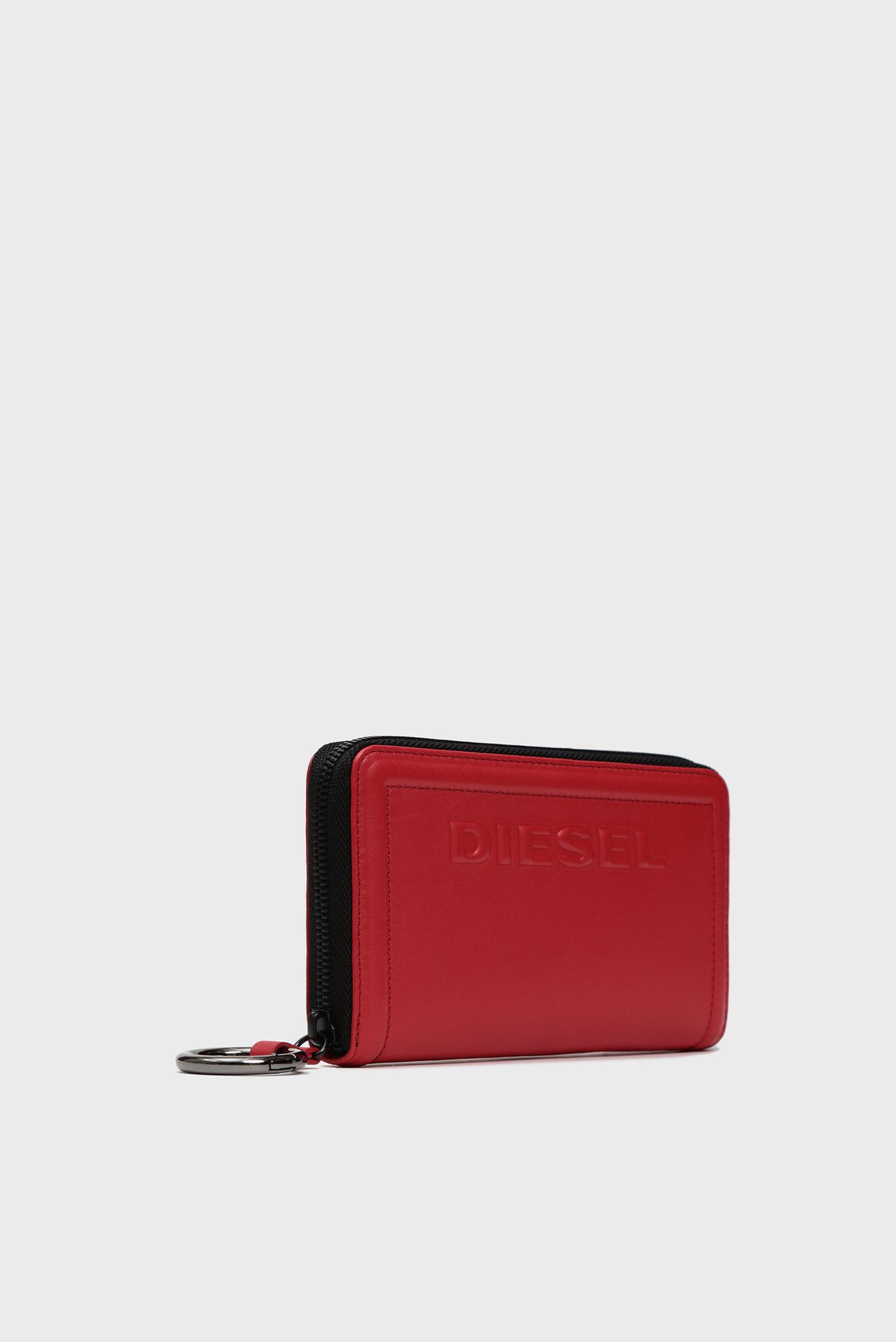 Женский красный кожаный кошелек KUB8 / GRANATO LC Diesel