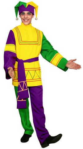 Русский костюм Скомороха фиолетовый