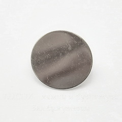 Основа для броши с круглой площадкой 20 мм (цвет - серебро)