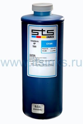 Пигментные чернила STS для HP Cyan 1000 мл