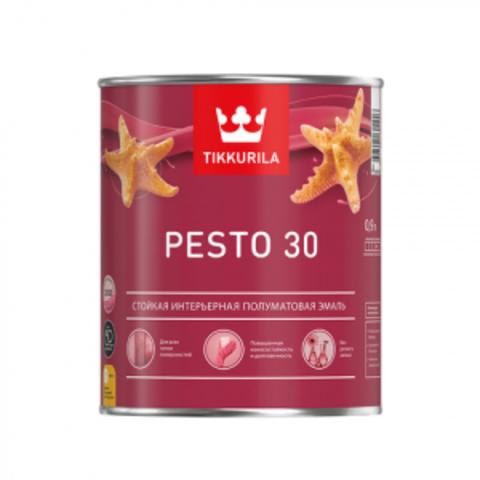 Tikkurila Euro Pesto 30 / Тиккурила Песто 30 эмаль алкидная для внутренних работ полуматовая