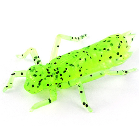 Силиконовая приманка FishUP Dragonfly цвет № 055 - Chartreuse/Black