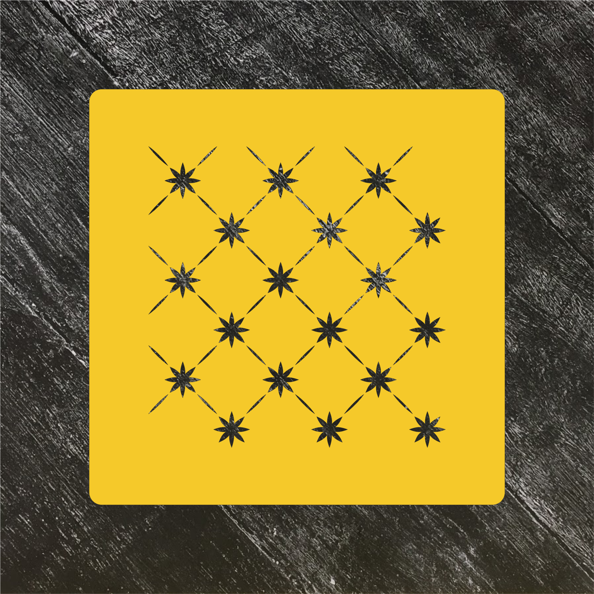 Трафарет-фон №7 Узор с звездами