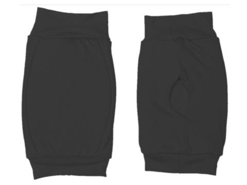 Наколенник для гимнастики и танцев ИНДИГО, р.L, цвет чёрный  (материал: трикотаж, поролон) :(ч):