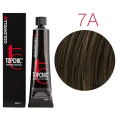 Goldwell Topchic 7A (пепельно-русый) - Cтойкая крем краска
