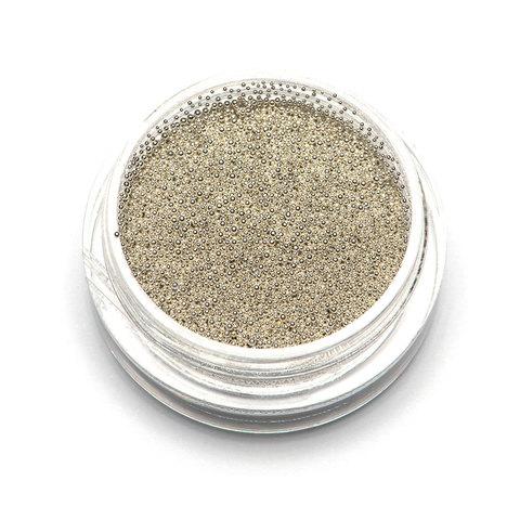 Бульонки супер мелкие - серебро - 0,4 мм (3 гр.)