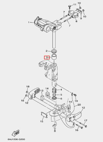 Втулка для лодочного мотора F20 Sea-PRO (20-3)