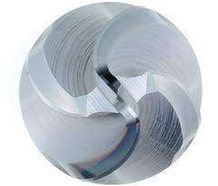 Твердосплавная фреза с дугообразной режущей кромкой, коническое исполнение α/2 = 9° PPC 12/500 мм