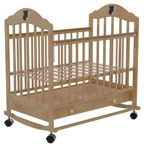 Детская кроватка Briciola 7 колесо-качалка авт. с ящиком