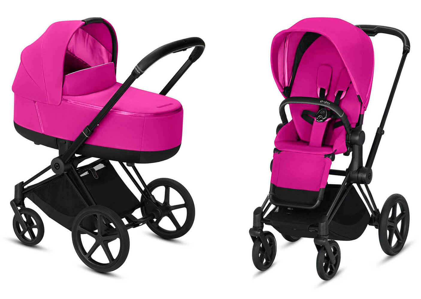 Цвета Cybex Priam 2 в 1 Детская коляска Cybex Priam III 2 в 1 Fancy Pink шасси Matt Black cybex-priam-iii-2-in-1-fancy-pink-matt-black.jpg