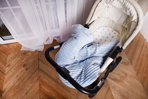 Постельное белье для коляски ПЛЮС Голубой