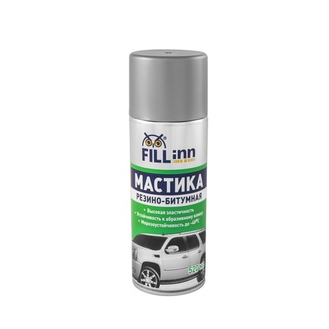 FL019 Мастика резино-битумная (аэрозоль), 520 мл