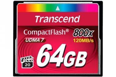 Compact Flash 64GB Transcend 800X