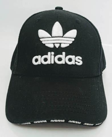 Бейсболка черная кепка адидас. Стильная мужская кепка с большим козырьком Adidas BC-1133.