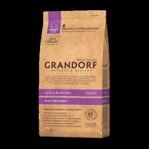 Grandorf Lamb & Rice Adult Maxi Сухой корм для взрослых собак крупных пород Ягненок с рисом низкозерновой