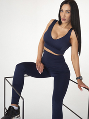 Лосины женские Lion gym CLASSIC BASIC DARK BLUE