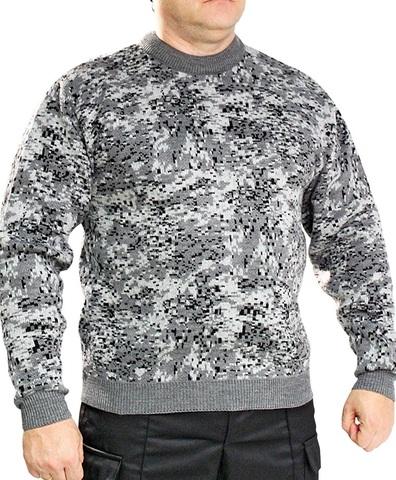 Джемпер свитер мужской (круглый вырез, серая Цифа)