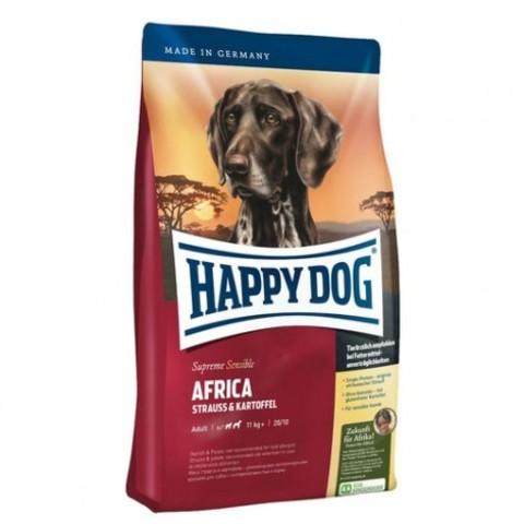 Happy Dog Supreme Sensible - Africa со страусом и катрофелем 12.5 кг