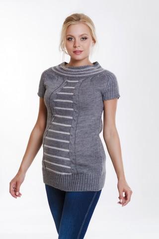 Туника для беременных 07794 серый
