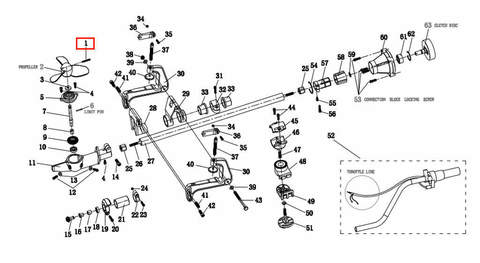 Подшипник M4*28*0.7, для лодочного мотора T2 SEA-PRO