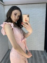 розовое платье на пуговицах недорого