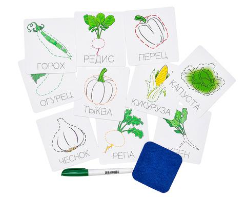 Карточки прописи пиши-стирай Овощи Smile Decor Ф901