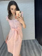 розовое платье на пуговицах интернет магазин