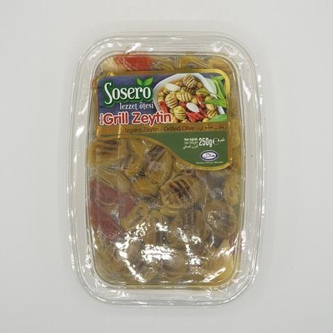 Оливки на гриле в масле SOSERO, 250 гр
