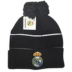 Вязаная шапка с помпоном с логотипом ФК Реал Мадрид (Real Madrid)
