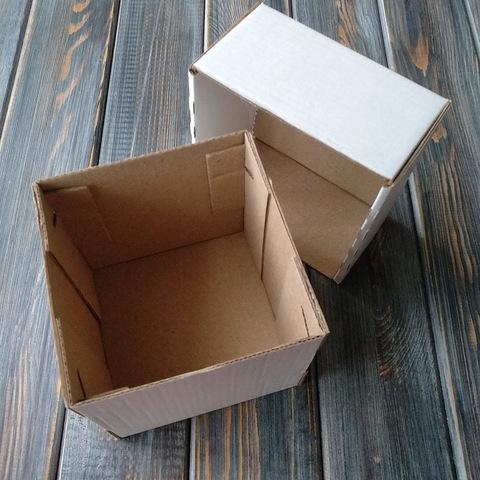 Коробка мгк КУБИК С КРЫШКОЙ (100*100*100мм) белая
