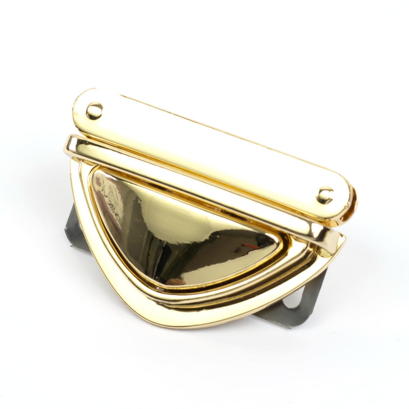 """Застежки """"Золото"""" Портфельный замок для кожаных клапанов треугольный литой """"Золото"""" IMG_6739.jpg"""