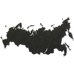 Карта-пазл 98х53см Mimi Wall Decoration Российская Федерация черная
