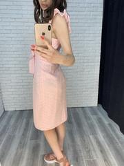 розовое платье на пуговицах оптом