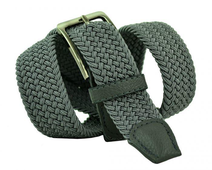 Ремень-резинка текстильный серый 35 мм 35Rezinka-095