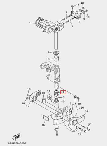 Втулка для лодочного мотора F20 Sea-PRO (20-4)